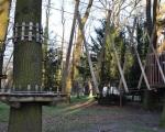 Park linowy przy centrum kultury.